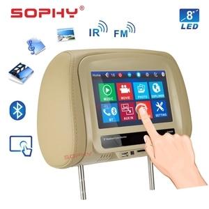 Image 3 - Новинка! Автомобильный монитор на подголовник 7 или 8 дюймов, MP5 видеоплеер с ИК FM сенсорным экраном для зарядки телефона 7068 или 8068