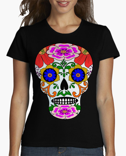 Summer brand clothing t shirts girl MEXICAN STYLE CALAVER Short Novelty Knitted hip hop S-XXXL