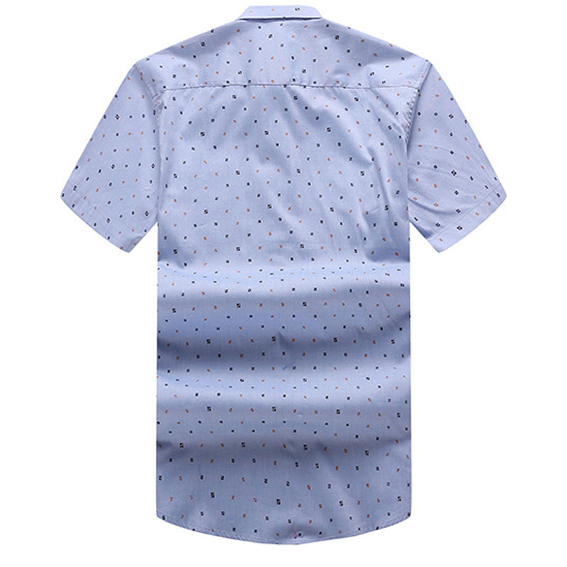 58 Hombres Abajo blanco Peso El 145 La Mferlier Más Corta 90 Manga Camisa Anchura Tamaño 49 De Verano Azul Turn Para Cm Los 7nq6SB5w