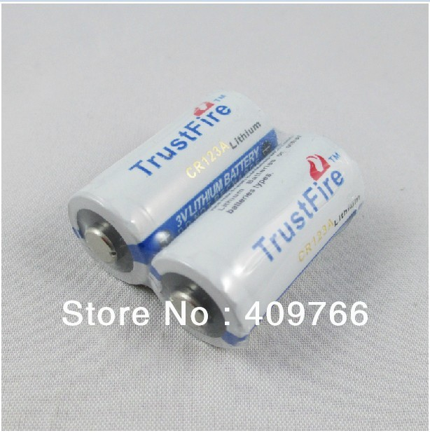10pcslot High Quality Trustfire Lithium Cr123a 3v 1400mah Battery