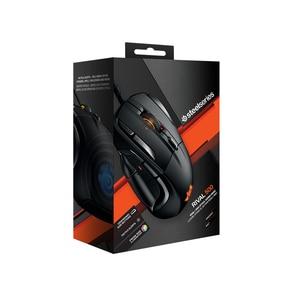 Image 5 - 100% ratón óptico SteelSeries Rival 500 FPS RTS MMO LOL WOW, ratón para videojuegos con cable USB, 6500 DPI, edición negra, Original