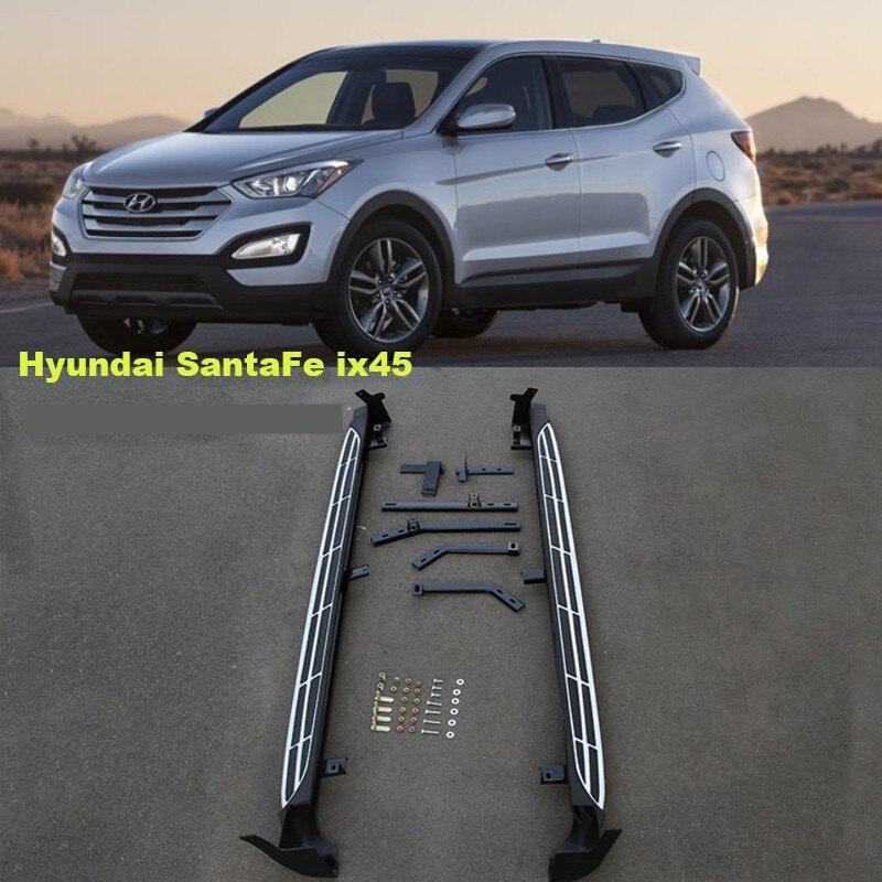 For Hyundai Santa Fe ix45 2013-2017 Running Boards Auto Side Step Bar Pedals High Quality Brand New Original Design Nerf Bars