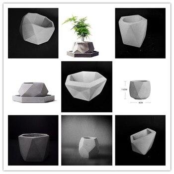 الرجعية الإبداعية البستنة الديكور Landsape النباتات وعاء سيليكون قوالب DIY الخرسانة الاسمنت زهور العفن
