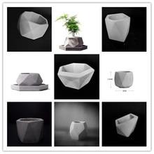 Retro Creative Gardening Decoration Landsape Plants Pot Silicone Molds DIY Concrete Cement flowerpot mold