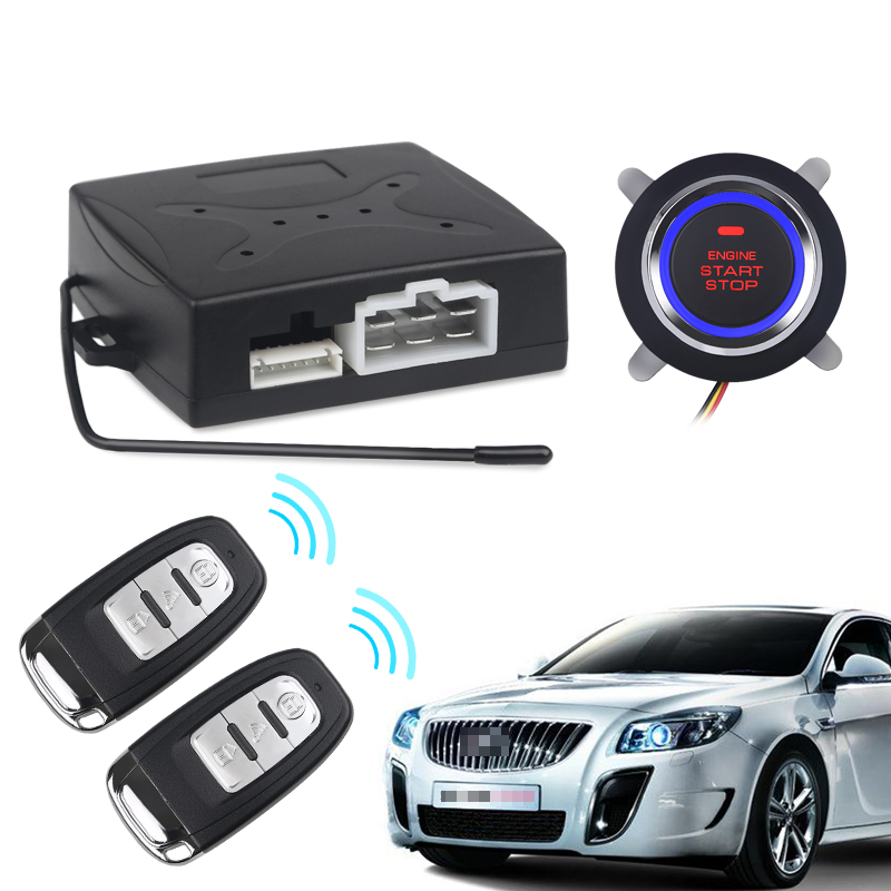 Car Keyless Entry Engine Start Alarm System Push Button Remote Starter Stop Auto-in Burglar Alarm from Automobiles & Motorcycles    1