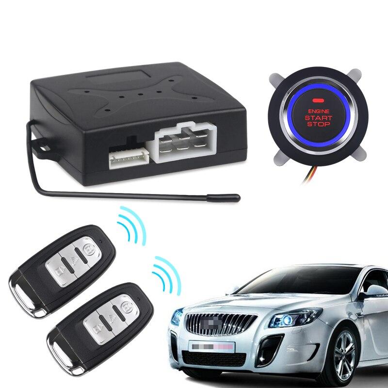Système d'alarme de démarrage de moteur d'entrée sans clé de voiture bouton poussoir arrêt de démarreur à distance Auto