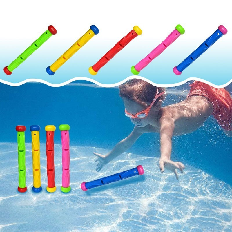 5PCS Robber Diving Stick Toy Kids Summer Toys 10cm Throwing Pool Diving Game Summer Child Underwater Stick Water Toys
