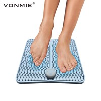 VONMIE EMS Foot Massage Wireless Muscle Stimulator Smart Pedicure Foot Reflexology ABS Training Device USB Rechargeable Unisex