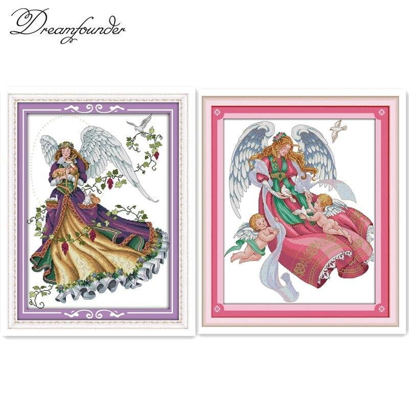 Набор для вышивки крестиком Angel 4 aida 14ct 11ct холсты стежков с принтом вышивка своими руками рукоделие|Упаковка|   | АлиЭкспресс