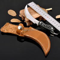 440 Stainless Steel Tactical Karambit Knife Fixed Blade Camping Knife G10 Handle Hunting Knives Survival Scorpion