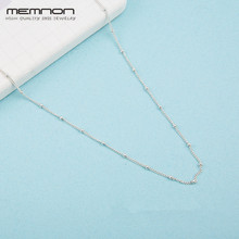 Memnon 2018 New summer collection silver Beaded Necklace Chain 925 sterling necklaces for women fine jewelry NC037
