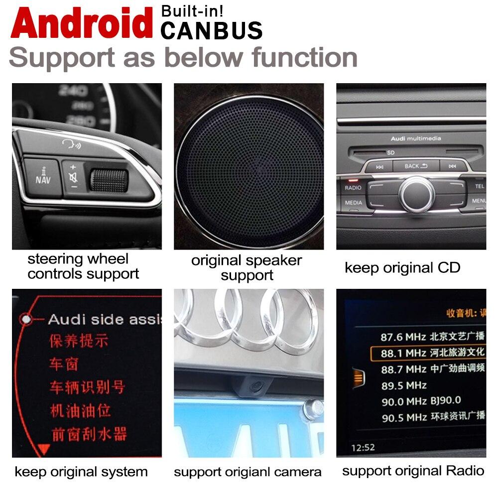 מערכת ניווט GPS עבור אאודי Q3 8V 2011 ~ 2018 MMI IPS אנדרואיד 2 DIN לרכב נגן ניווט GPS סטריאו נגן מולטימדיה לרכב רדיו WiFi מערכת מפה (5)