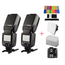 2pcs Godox TT685S 2.4G HSS TTL II GN60 Flash + 1pc X1T-S Wireless Trigger for Sony A7 II A7R II A7S II A6300 with gifts