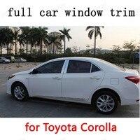 Экстерьера автомобиля Аксессуары полный Отделка Окна Отделка Полосы для Toyota Corolla 2014 Из Нержавеющей Стали