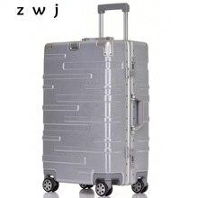 Алюминиевый каркас багажный чемоданы с спиннером чемодан на колёсиках Универсальный Дорожный чемодан на колесиках