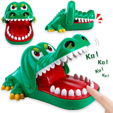 21cm 2019 Hot Sale New Creative Small Size Crocodile Mouth Dentist Bite Finger Game Funny Gags Toy For Kids Play Fun crocodile
