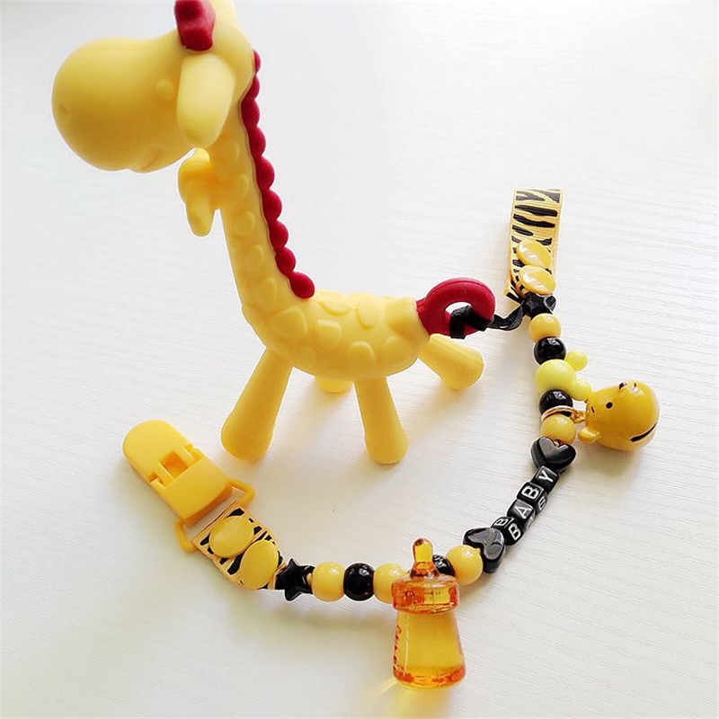 11 Styles Baby Cartoon Pacifier Clip Chain New Baby Boys Girls Pacifier Clips Newborn Pacifier Chain Clip Holder Nipple Feeding