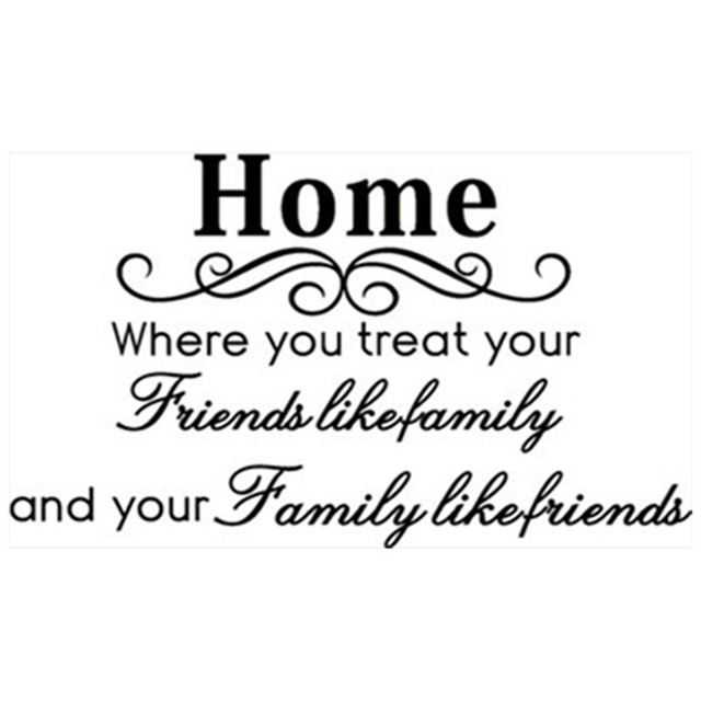 Family Friends English Quotes Wall Sticker Flower Vine Vinyl Decals Home Living Room Bedroom Decoration Removable