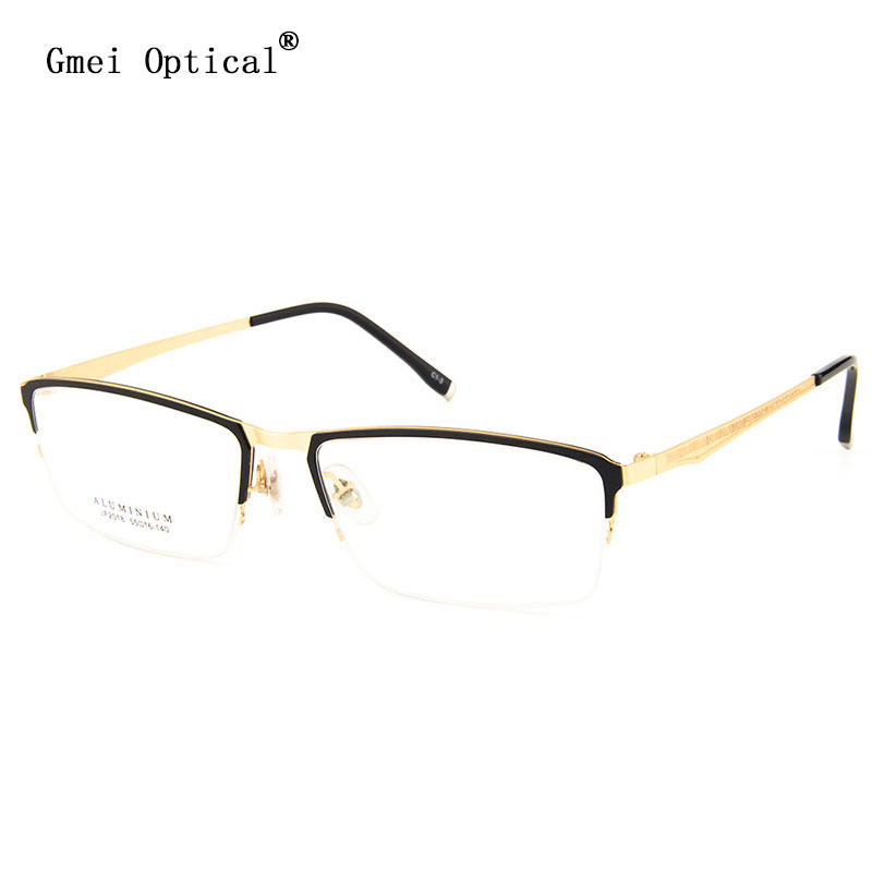 704d3ad7b0 Gmei Optical LF2018 Metal Semi Rimless Frame Eyeglasses for Women and Men  Eyewear Spectacles-in Eyewear Frames from Apparel Accessories on  Aliexpress.com ...