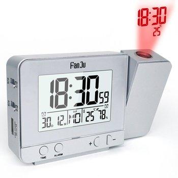 投影目覚まし時計デジタル日付スヌーズ機能バックライト回転可能ウェイクアッププロジェクター多機能LED時計7言語デジタル時計