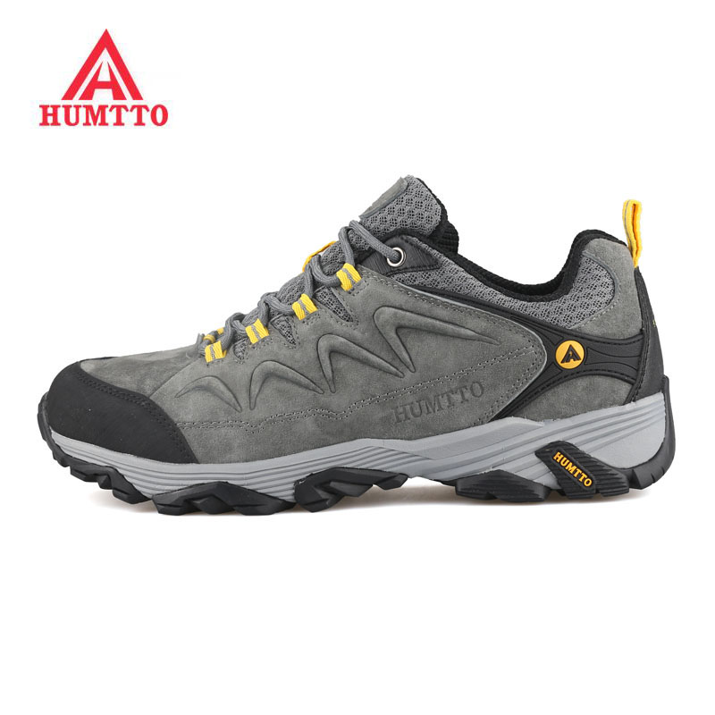 HUMTTO Men's Fall Leather Outdoor Hiking Trekking Shoes Sneakers For Men Sports Climbing Mountain Shoes Man Zapatillas Hombre clorts hiking men shoes outdoor trekking shoes suede lace up leather shoes mountain climbing shoes zapatillas outdoor hombre