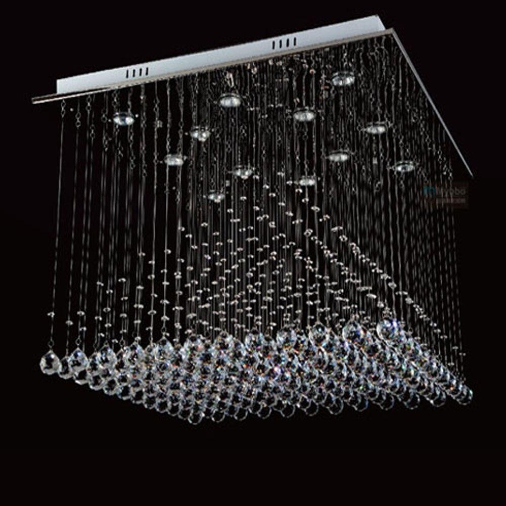 Large Modern Crystal Chandelier Lights Square 800mm