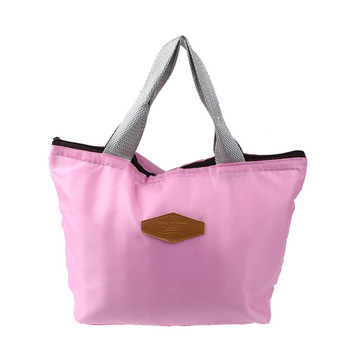 Tote Oxford Lunch Bag Solid Waterproof Portable Picnic Insulated Food Storage Box Work School Storage Food Bags bolsa kawaii tote bags for work