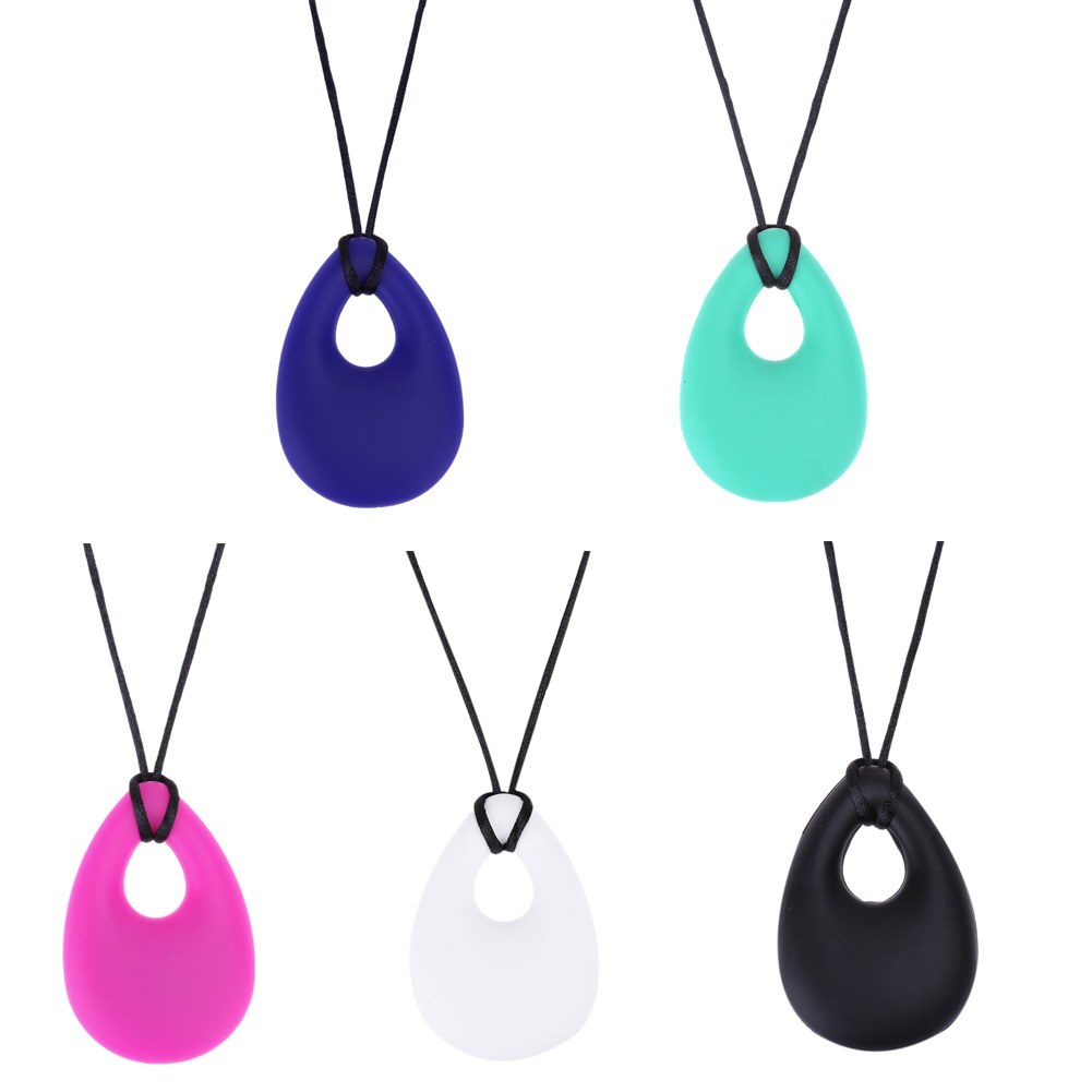 Silicone Baby Teether Pendant Toddler Kids Drop Ring Teething Necklace Newborn Molars Tooth Chewable Teething Toy