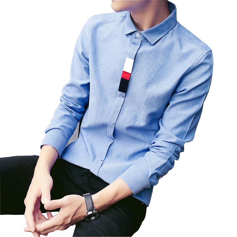 New fashion korea style mens shirts luxury contrast color for New look mens shirts