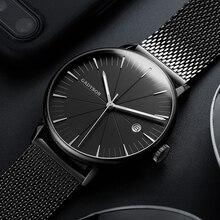 Fashion Business Watch Men Luxury Brand Gold Black Mesh Steel Quartz Watch for Man Minimalist Wrist Watches Relogio Masculino super speed v6 v0176 imitation racer quartz wrist watch for man black red 1 x lr626
