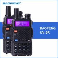 2 stks BAOFENG UV-5R Walkie Talkie VHF UHF Dual Band UV5R Handheld Draagbare Politie Walkie Talkie Walkie Ham CB Radio Transceiver