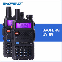 2pcs BAOFENG UV 5R Walkie Talkie VHF UHF Dual Band UV5R Handheld Portable Police Walkie Talkie Two Way Ham CB Radio Transceiver