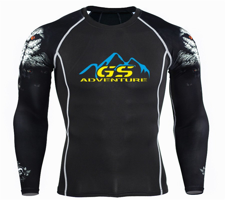 ADVENTURE GS 3D Printed T Shirts Men Compression Shirt 2018 Costume Long Sleeve Tops Male Quick Dry Clothes Pullover