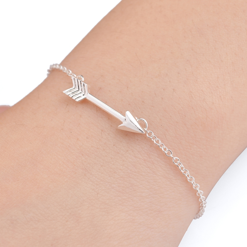 silver charm arrow jewellery toggle bracelet palas