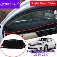 For Toyota Corolla 2014 2017 Right Hand Drive Dashboard Mat Protective Interior Photophobism Pad Shade Cushion