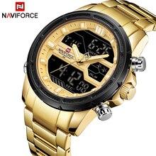 NAVIFORCE Модные мужские спортивные часы для мужчин кварцевые цифровые часы Элитный бренд полный сталь Военная Униформа наручные Relogio Masculino