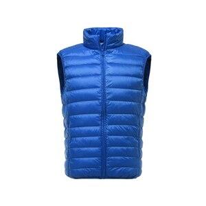 Image 5 - Marca de moda FGKKS hombres chaleco chaqueta chaleco abajo chaqueta 2020 Otoño Invierno hombre abrigo Color sólido sin mangas chaleco Casual para hombres