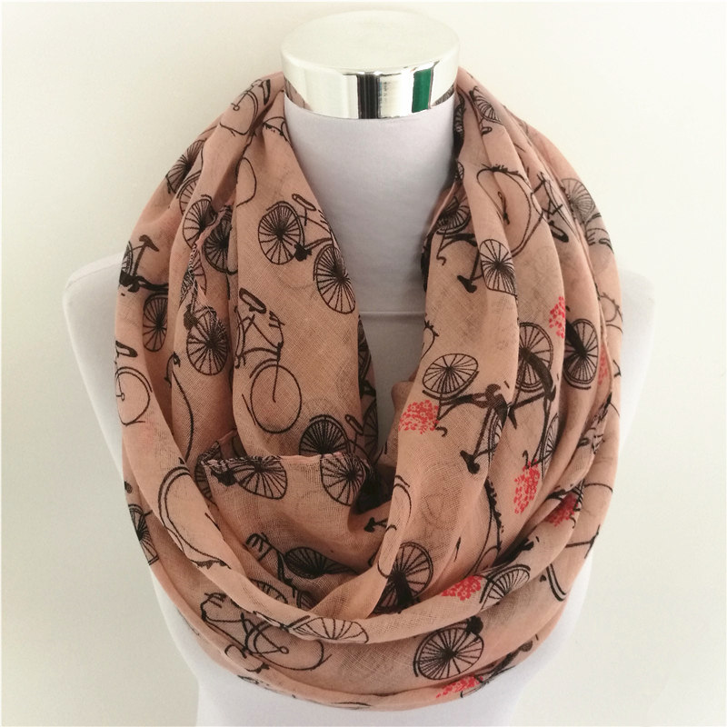 Women Bicycle Loop Scarf | Infinity Scarves