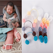 Newborn Photography Props photo props Baby  Crochet Knitted  Shoes Baby Accessories handmade blanket for newborn baby photo props crochet rose flowers pink floral knitted receiving blankets photography props