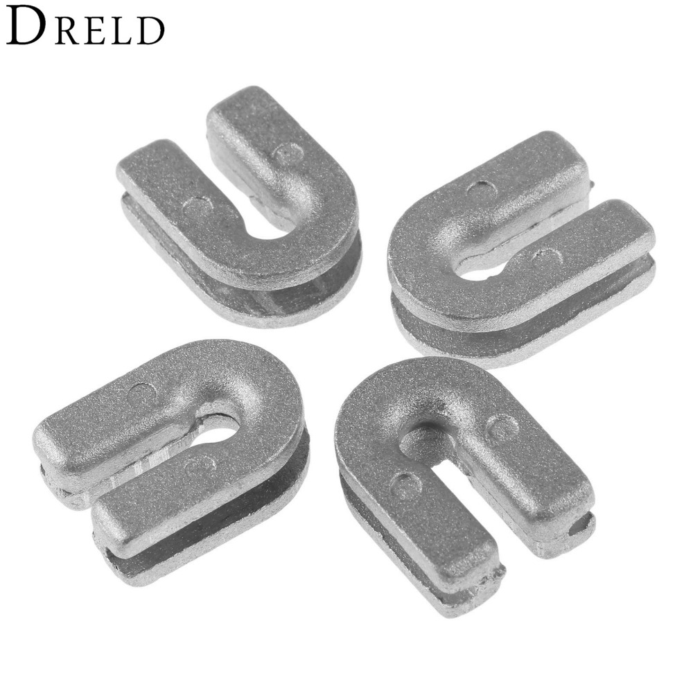 DRELD 4Pcs Grass Trimmer Head Eyelet 537185902 Bump and Go Nylon fit for Husqvarnaa T35 T25 Brush Cutter Spare Parts Garden Tool dreld 1e34f cg260 bc260 26cc gasoline brush cutter grass trimmer carburetor garden tool parts 26cc brush cutter spare parts