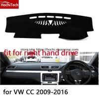 Para Volkswagen VW CC 09-16 right hand drive mat painel do carro almofada de Proteção preto-styling Reequipamento Interior Mat adesivo produtos