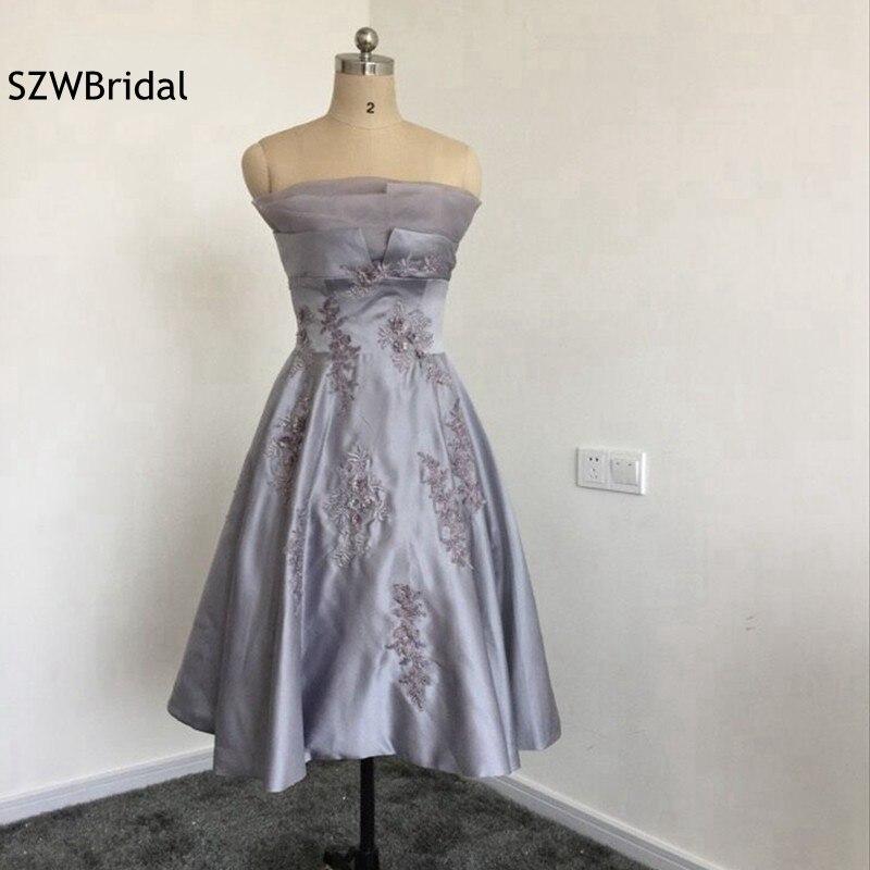 Fashion Off the shoulder Satin Lace Beaded Short   cocktail     dresses   2019 Ever pretty Vestido de festa curto Jurken   cocktail     dress