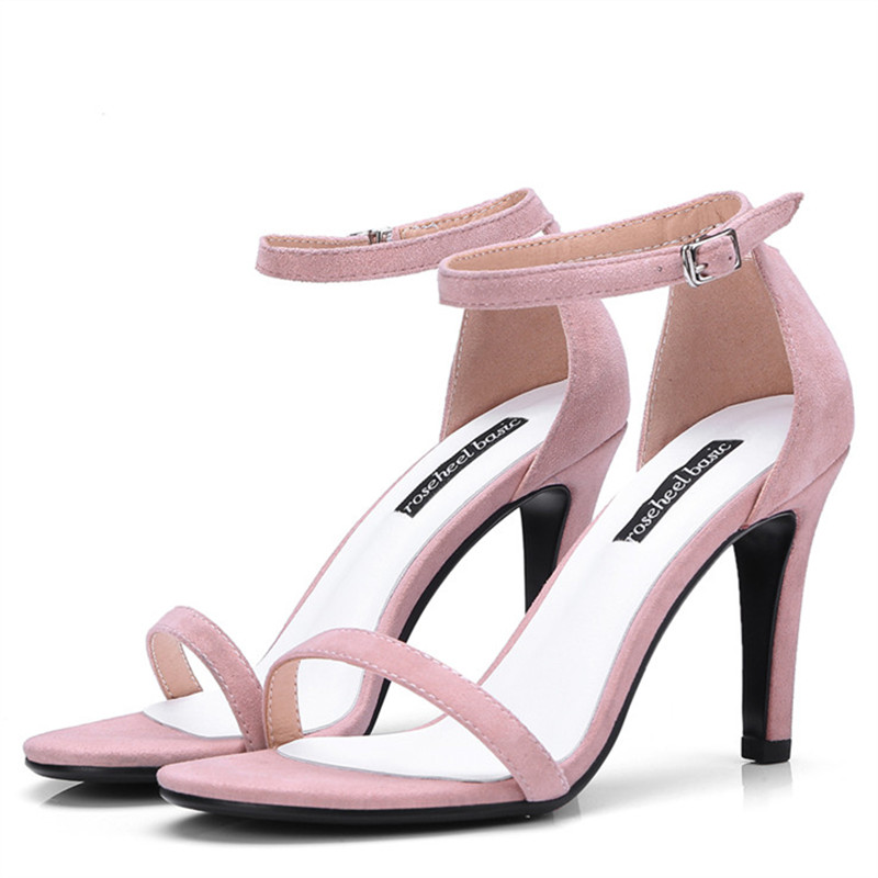 LOVEXSS Peep Toe Genuine Leather Sandals Sexy Party Pink Blue Red Black Ball Pumps Sheepskin Wedding Open Toe High Heeled Shoes lovexss genuine leather sandals heel wedding party square toe black pink pumps high woman shoes plus size 33 43 sandals 2017