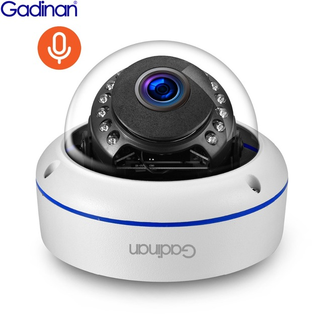 Gadinan IP Camera PoE 5MP 2592*1944P 3MP 2MP IP66 Waterproof Onvif Night Vision Audio Dome Vandalproof Security Camera Outdoor