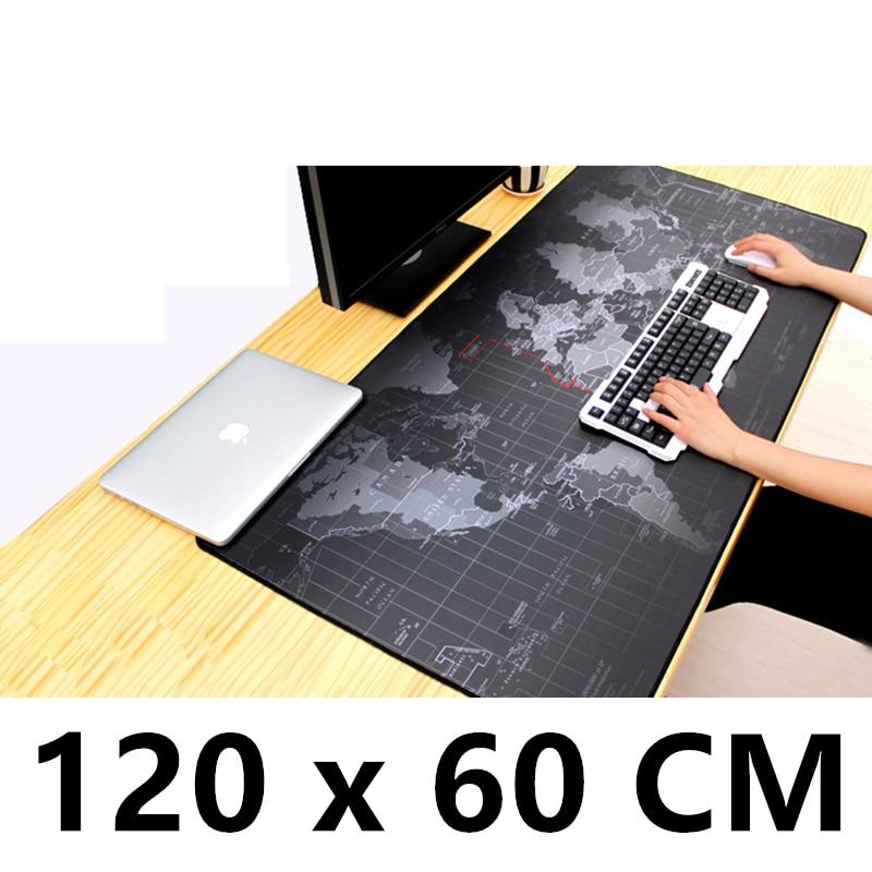 120x60cm XXL Big World map Mouse pad gamer Mousepad Keyboard mat Office Table Cushion Home Decor Estera scenery anime map стоимость
