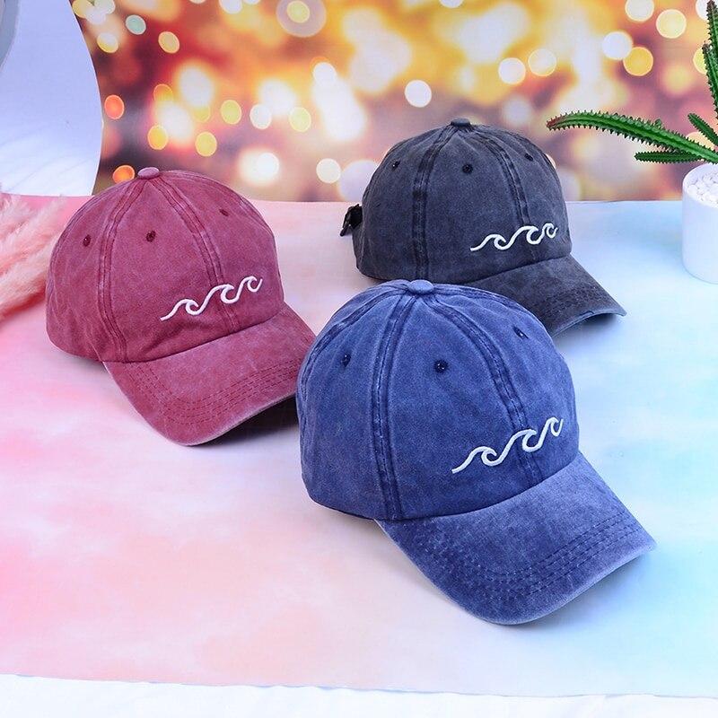 1PC Unisex Fashion Sports Hats Sea Wave Baseball Cap Dad Hats Sports Hats FOR Women Men