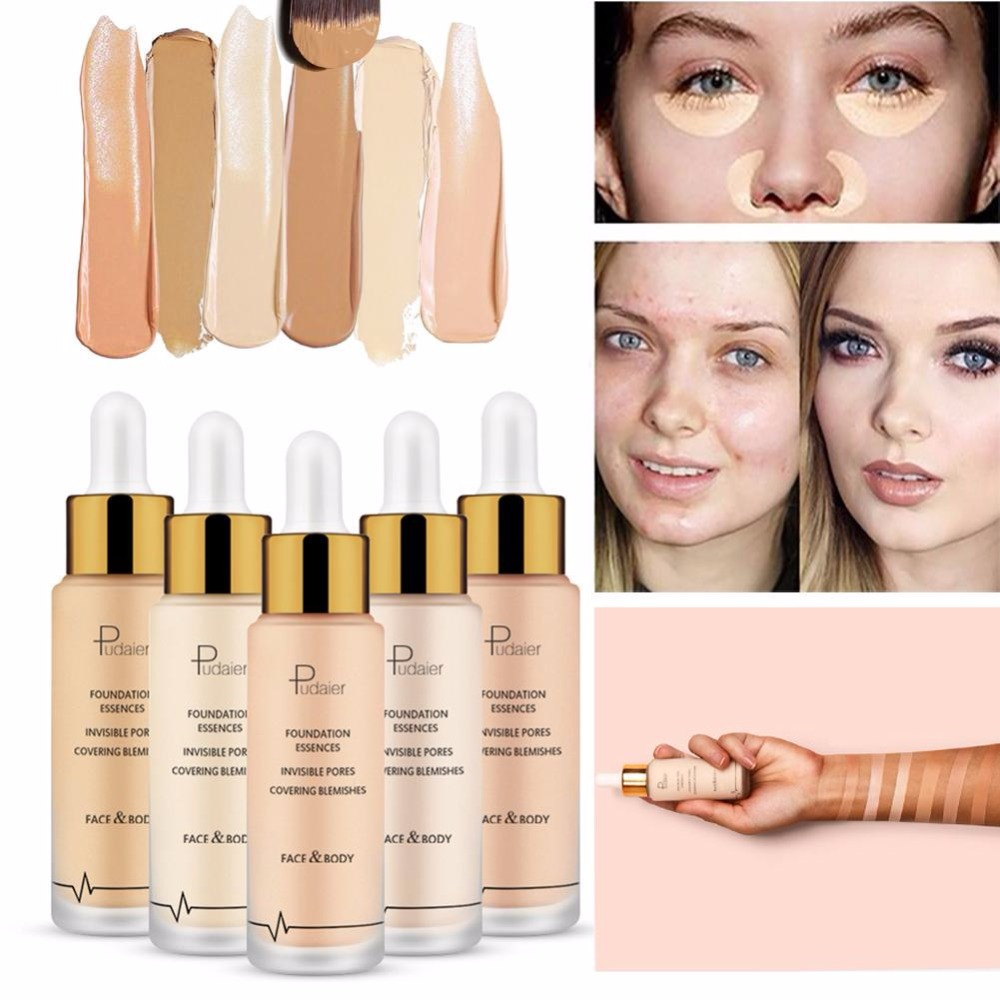PUDAIER 6 colors Foundation Concealer Liquid Make up palette Base Make Up For Eye Dark Circles Baby bottle Facial Cosmetic image