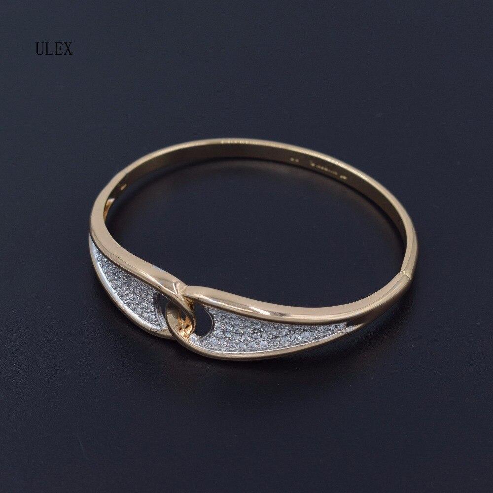 ULEX 2017 Classic AAAAA zircon Fine jewllery Gold Plating Bangle For Women Jewelry Brace ...