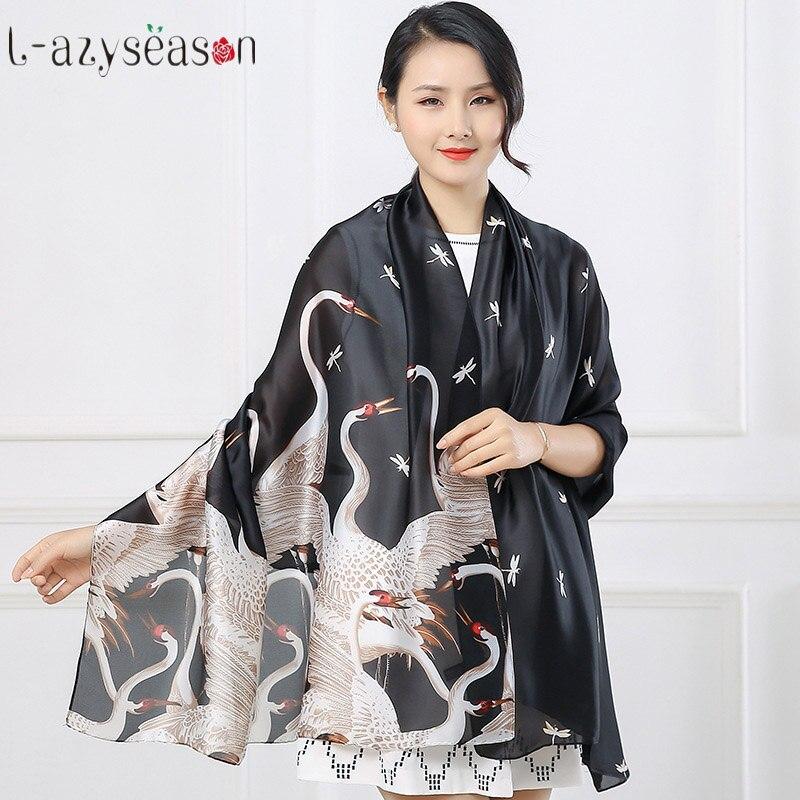 2018 newest spring summer luxury brand Scarf for women fashion lady print shawls pashmina foulard femme long size Scarves Wraps