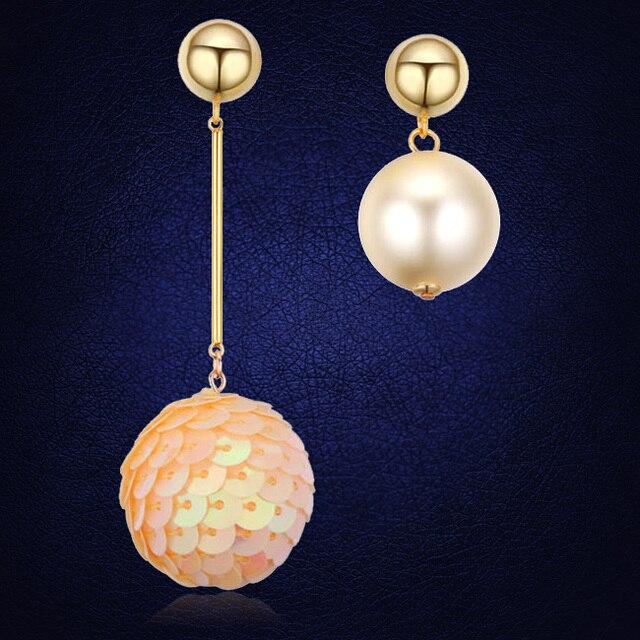 7642d2eb38a1 Regalos de navidad pendientes para las mujeres Boucle D Oreille dos bolas  perlas largo pendiente